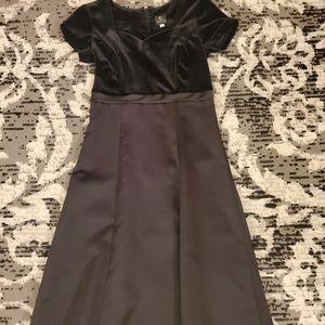 Concert Black Satin and Velvet Dress